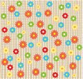 Flower seamless background design in vector Stock Image