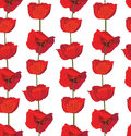 Flower seamless background flourish backdrop red tulips floral pattern Stock Image