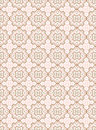 Flower seamless damask pattern Royalty Free Stock Image
