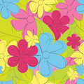 Flower seamless pattern Royalty Free Stock Photo