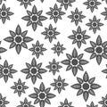 Flower seamless pattern background icon.