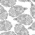 Flower seamless pattern background. Texture florals vector. Coloring book. Royalty Free Stock Photo