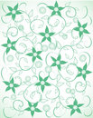Flower seamless pattern with leaf, Royalty Free Stock Images
