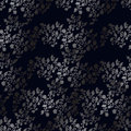 Flower seamless pattern, silver flowers Royalty Free Stock Photo