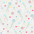 Flower seamless vintage patterns blue background Royalty Free Stock Photos