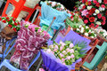 Flower selling at flower shop Royalty Free Stock Photos