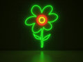 Flower - Series Neon Signs Royalty Free Stock Photo