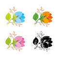 Flower set. Vector. Royalty Free Stock Images