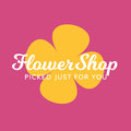 Flower Shop Floral Gift Spa Salon Logo Royalty Free Stock Photo
