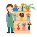 Flower shop florist or salesperson.