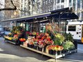 The flower shop on footpath in melbourne near town hall Stock Photography