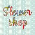 Flower shop. Gardening logos.