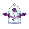 Flower shop vector logo Royalty Free Stock Photo