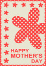Flower silhouettes mother's day card Royalty Free Stock Photography