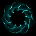 Flower spirograph pendulum photo photography is on black background Royalty Free Stock Image