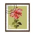 Flower stamp Stock Photo