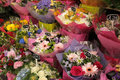 Flower stand at victoria train station in london uk Stock Photography