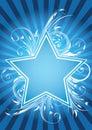 Flower star design Royalty Free Stock Photo