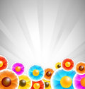 Flower stickers background Royalty Free Stock Photos