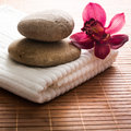 Flower stones spa Royalty Free Stock Image