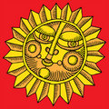 Flower sun gold Royalty Free Stock Photo
