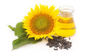Flower of sunflower seeds and oil. Royalty Free Stock Photo