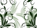Flower and Swirl Design Background Stock Photography