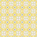 Flower swirl tile seamless pattern Royalty Free Stock Photo