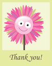Flower thank you card illustration of Stock Photo