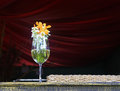 Flower vase, wine glass Royalty Free Stock Photo