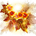 Flower vector background in pastel Royalty Free Stock Photo