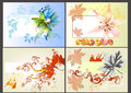 Flower vector design elements Royalty Free Stock Image