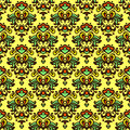 Flower vector pattern damask summer Stock Photos