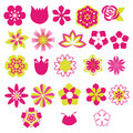 Flower vector symbols icon set illustration floral Stock Photo