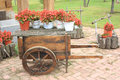 Flower Wagon Royalty Free Stock Photo