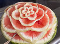 Flower of watermelon carved out a Stock Photos