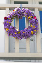 Flower wreath in greece Stock Images