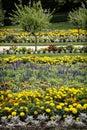 Flowerbeds in the castle garden