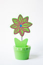 Flowered-design wooden toy Stock Images