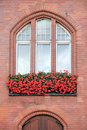 Flowered window. Royalty Free Stock Images