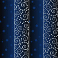Flowering blue strip seamless pattern Royalty Free Stock Photo