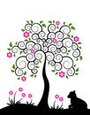 Flowering tree and goatling