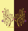 Flowering tree vector illustration Royalty Free Stock Image