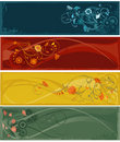 Flowers abstract banners Royalty Free Stock Photo