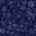 Flowers. Abstract wallpaper with floral motifs. Seamless pattern.