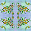 Flowers. Abstract wallpaper with floral motifs. Seamless pattern. Wallpaper.