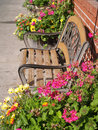 Flowers adorning the streets of leavenworth washington usa Stock Photo