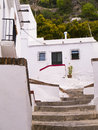 Flowers and architecture in frigiliana spain one of the most beautiful white villages of the southern area of andalucia the Stock Images