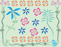 Flowers art patterns flower beautiful and make with a programs illustrations Royalty Free Stock Photography