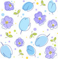Flowers background blue Royalty Free Stock Photos